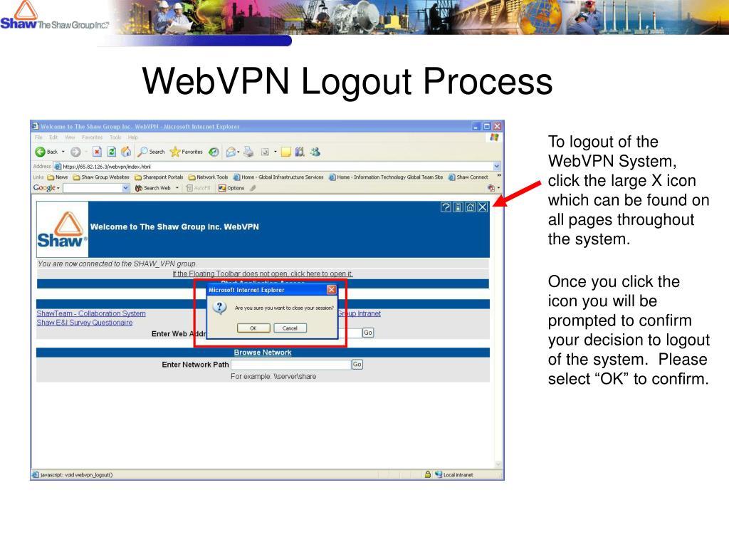 WebVPN Logout Process