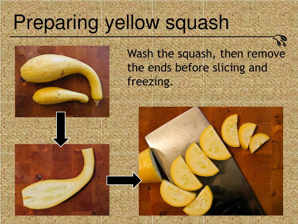 Preparing yellow squash