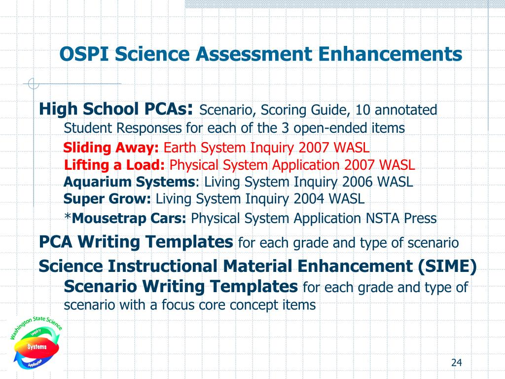 OSPI Science Assessment Enhancements