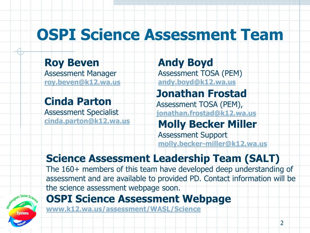 OSPI Science Assessment