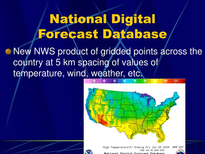 National Digital Forecast Database