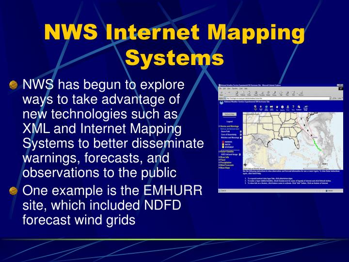 NWS Internet Mapping Systems