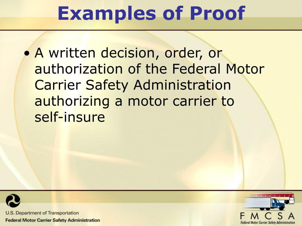 Ppt financial responsibility powerpoint presentation for What is the federal motor carrier safety regulations