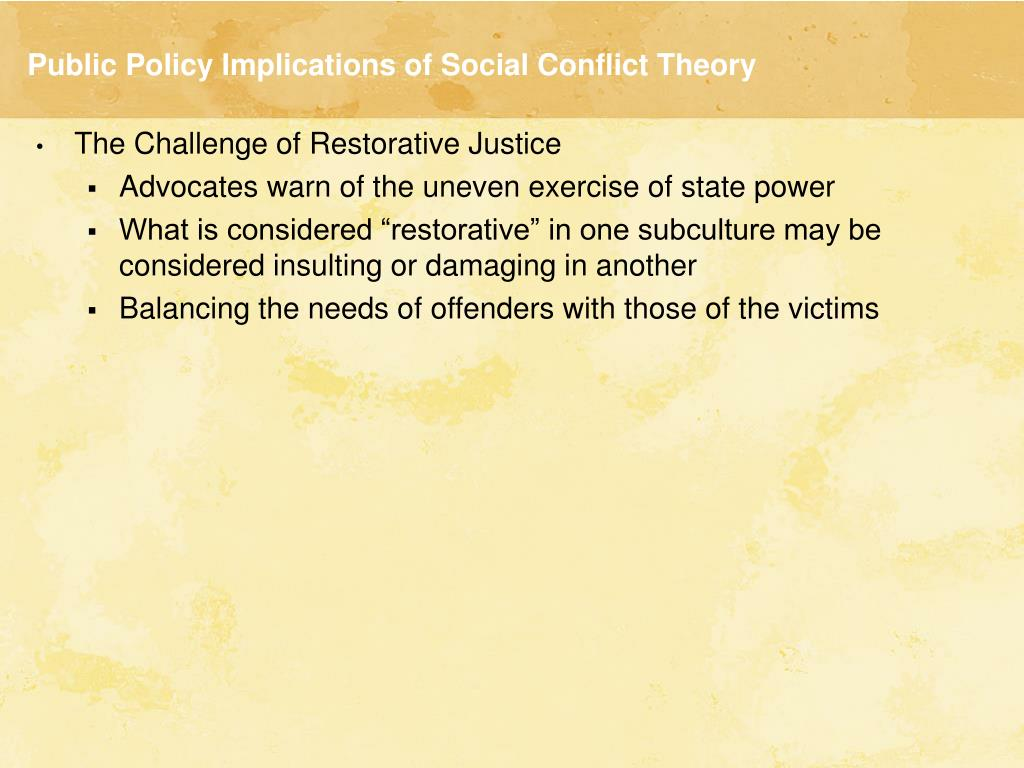 conflict theory on drug abuse Objective to study the pattern of drug use, reasons for initiation and the  perception about the effects of using drugs, among juveniles in conflict with law.