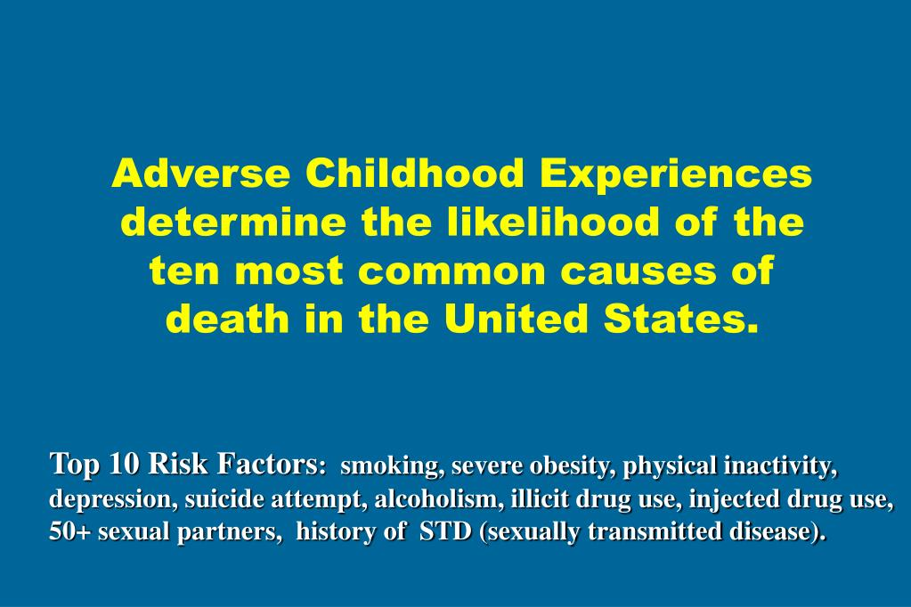 Adverse Childhood Experiences determine the likelihood of the