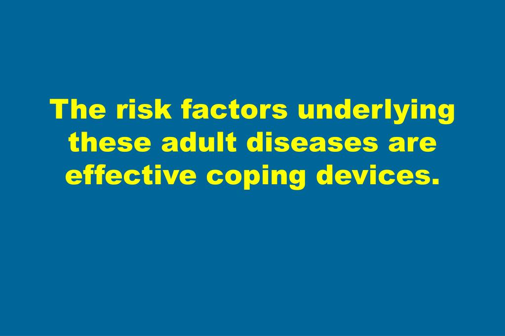 The risk factors underlying