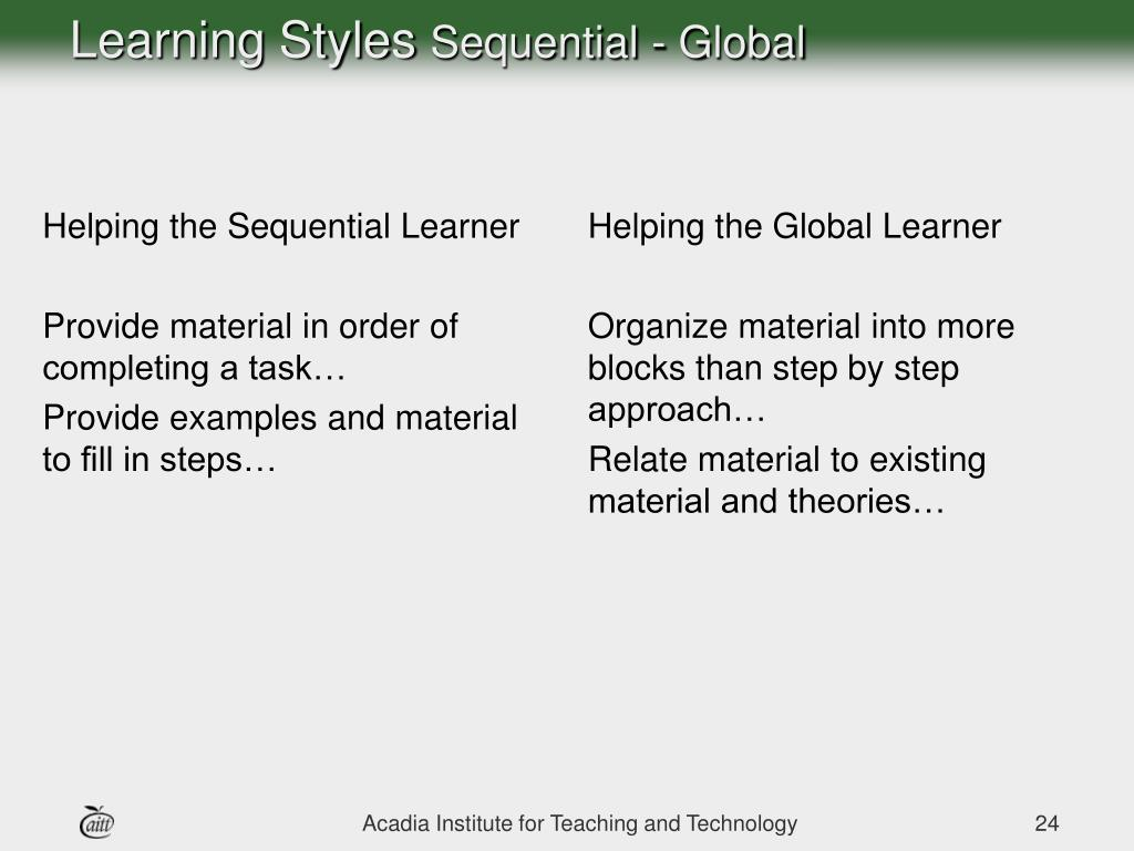 Helping the Sequential Learner