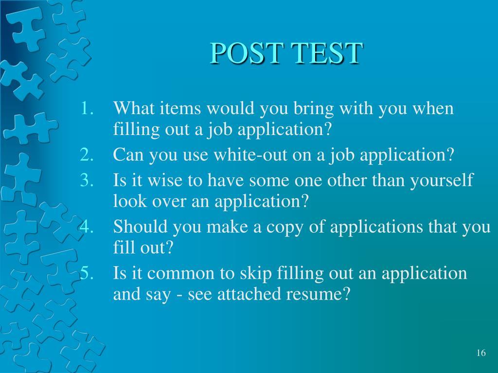 POST TEST