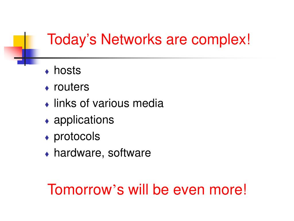 Today's Networks are complex!