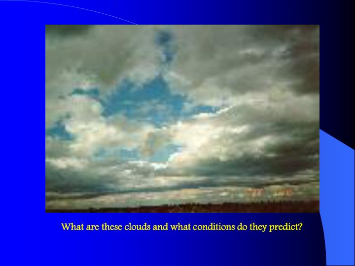 What are these clouds and what conditions do they predict?