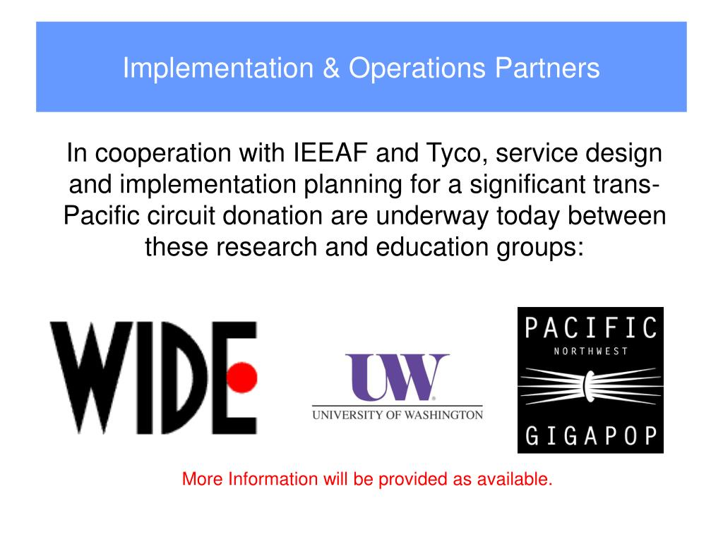 Implementation & Operations Partners