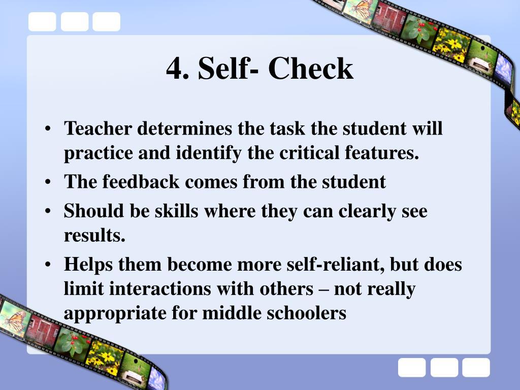 4. Self- Check