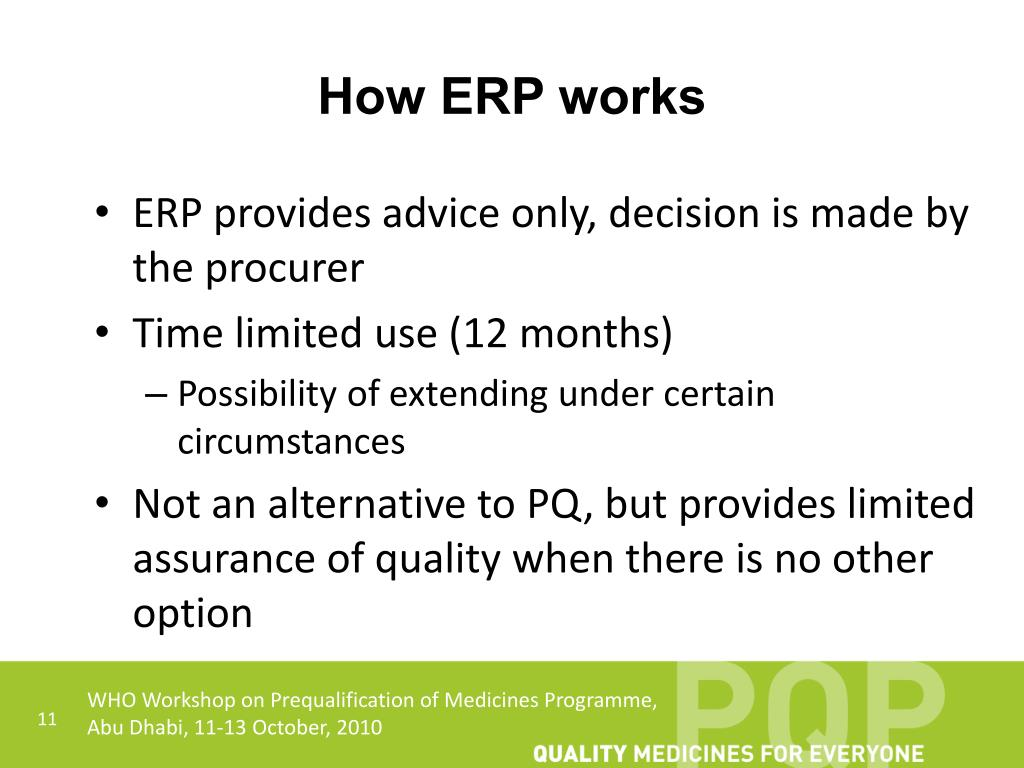 How ERP works