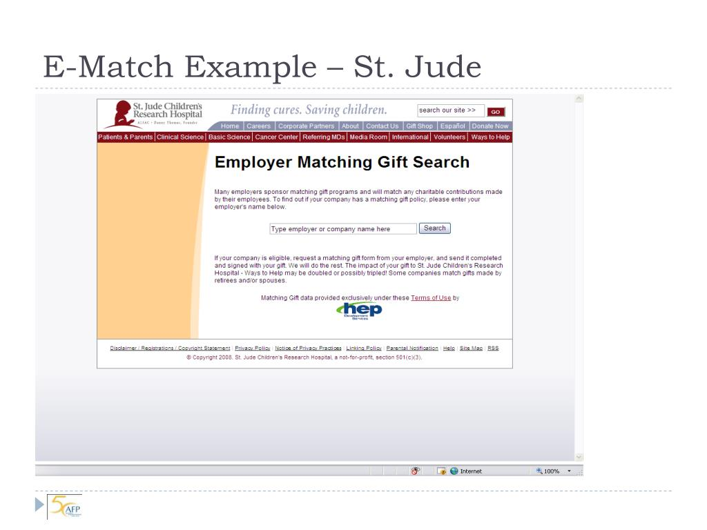 E-Match Example – St. Jude