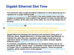 gigabit ethernet slot time