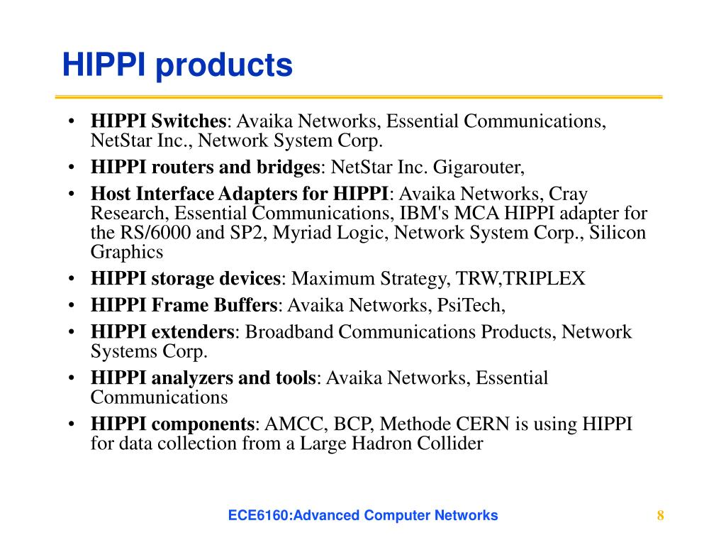 HIPPI products