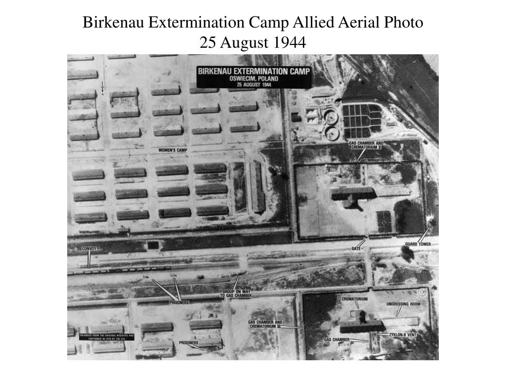 Birkenau Extermination Camp Allied Aerial Photo