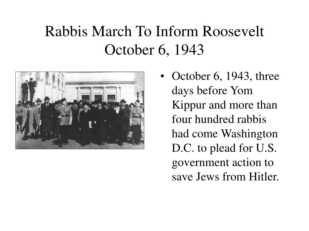 Rabbis March To Inform Roosevelt