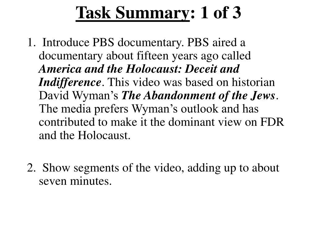 Task Summary