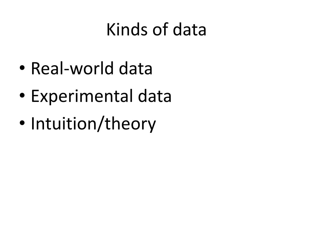 Kinds of data