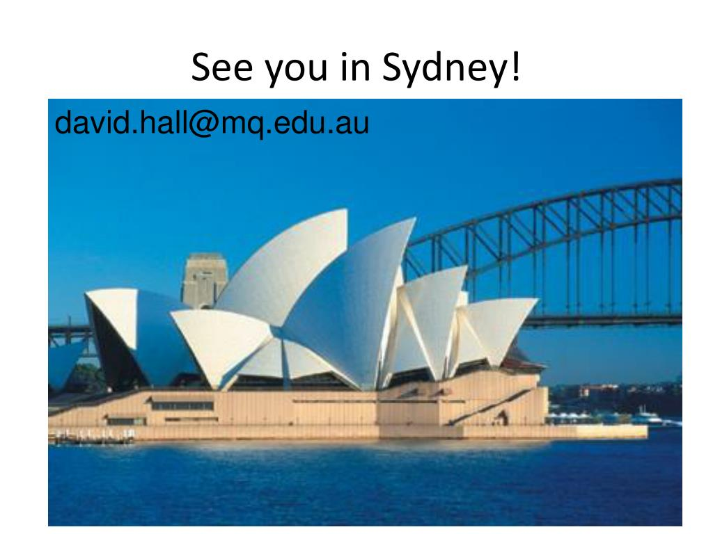 See you in Sydney!