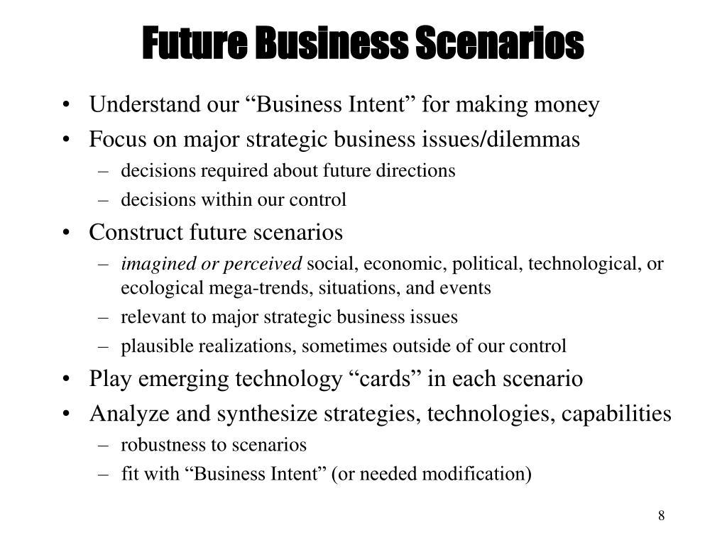 Future Business Scenarios