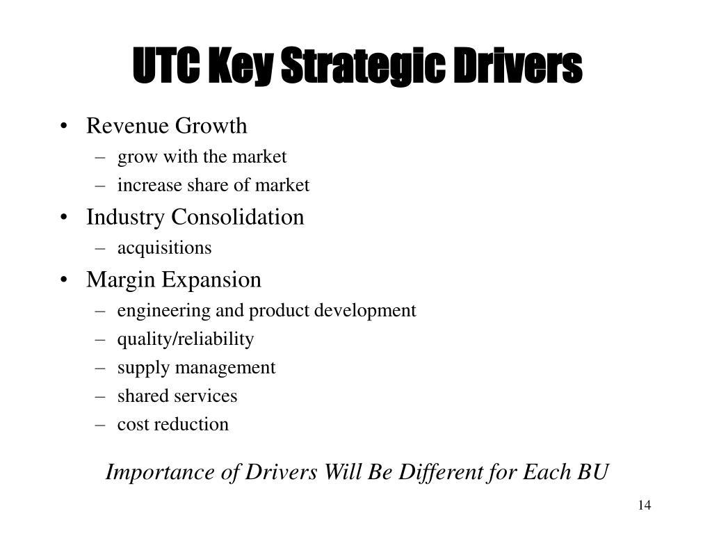 UTC Key Strategic Drivers