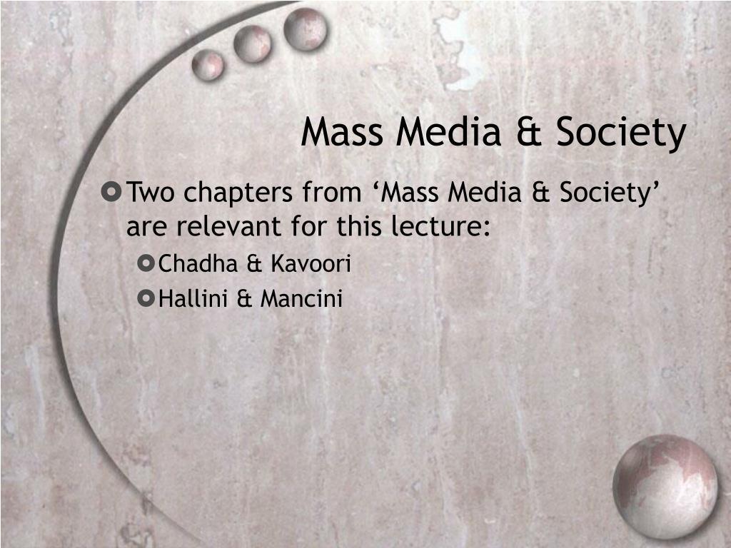 Mass Media & Society