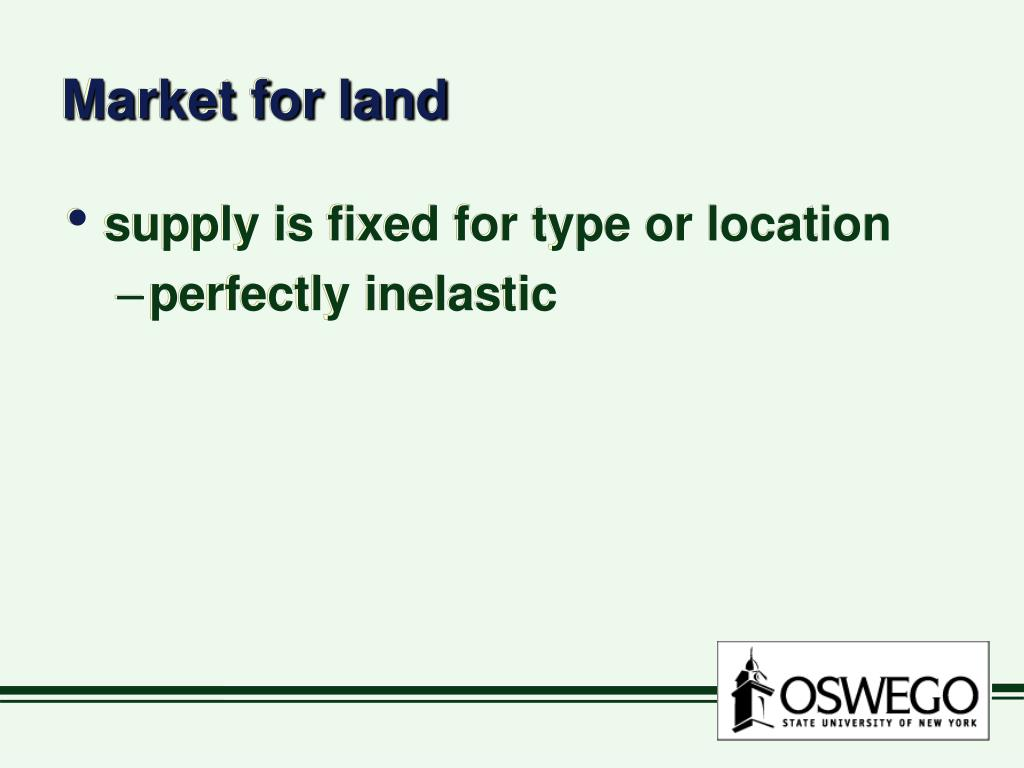 Market for land