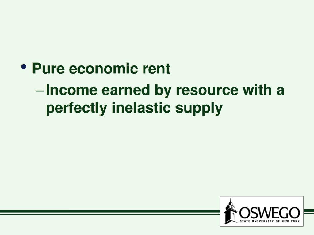 Pure economic rent