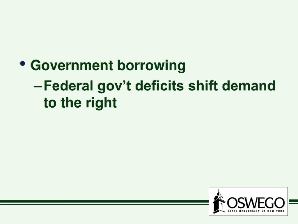 Government borrowing