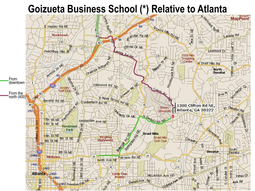 Goizueta Business School (*) Relative to Atlanta