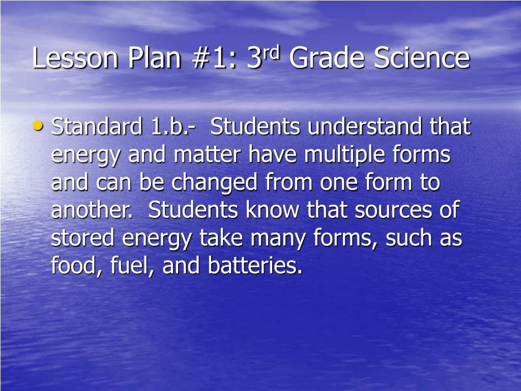 Lesson Plan #1: 3