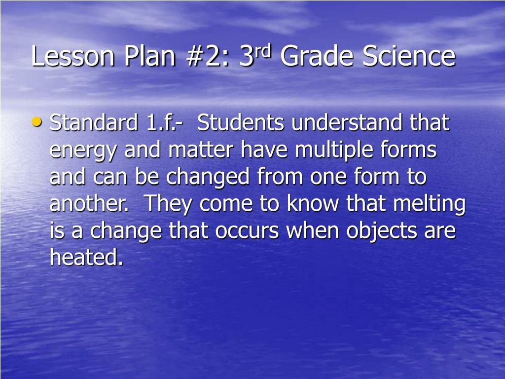Lesson Plan #2: 3