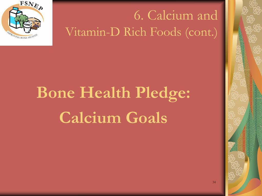 6. Calcium and