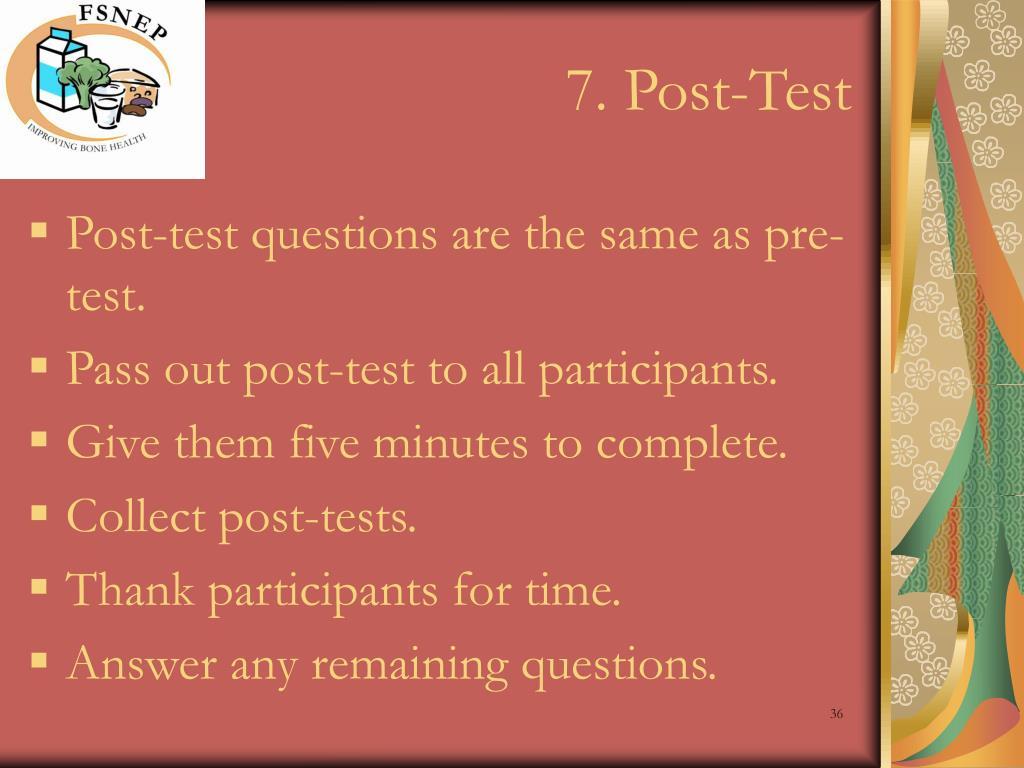 7. Post-Test
