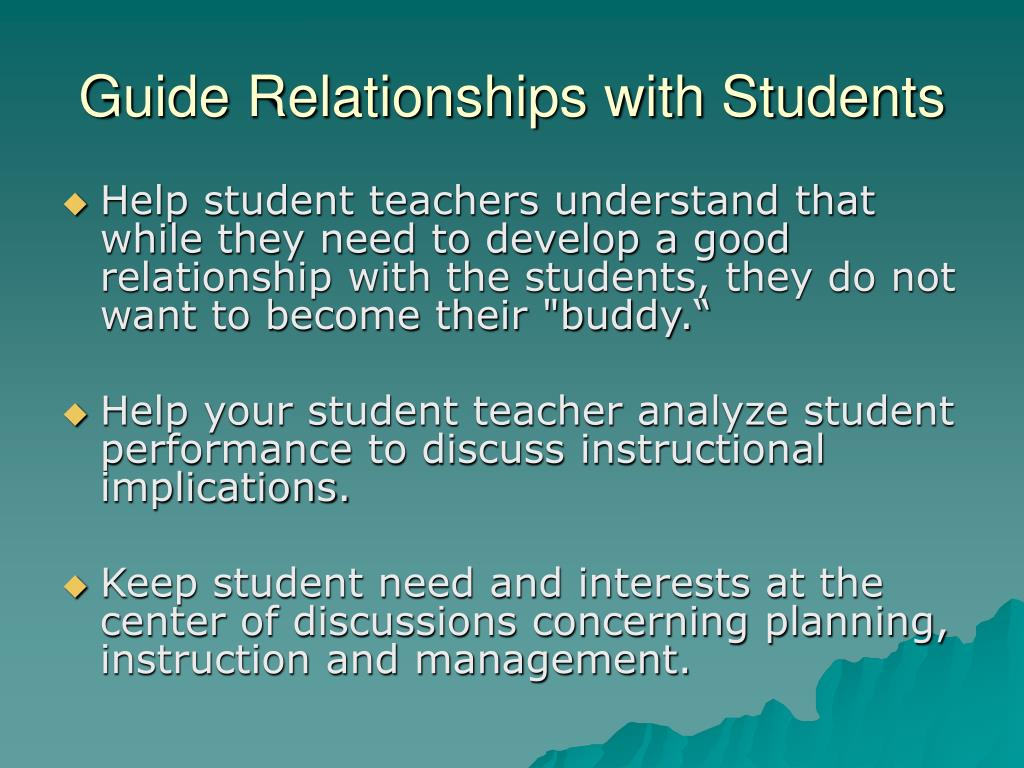 Guide Relationships with Students