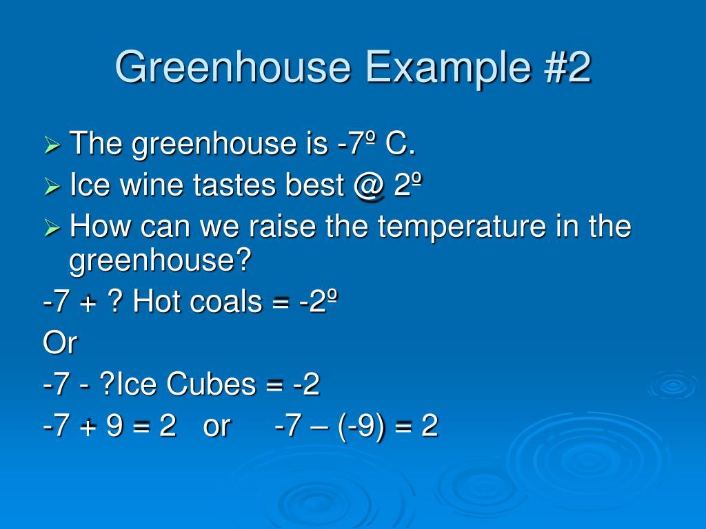 Greenhouse Example #2