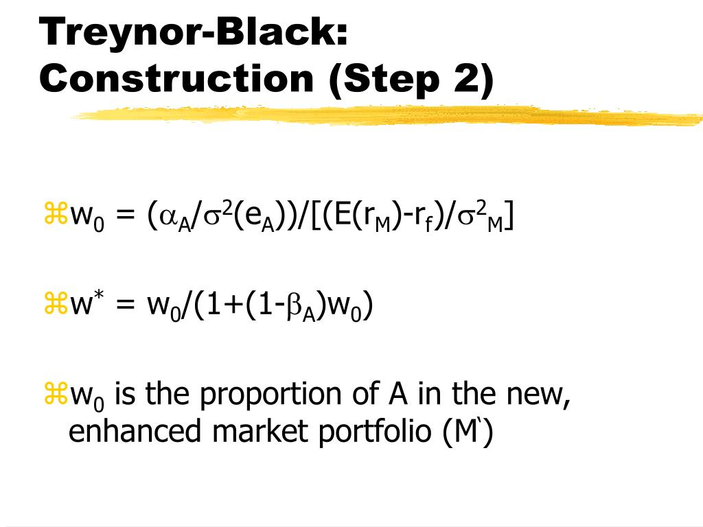 Treynor-Black: Construction (Step 2)