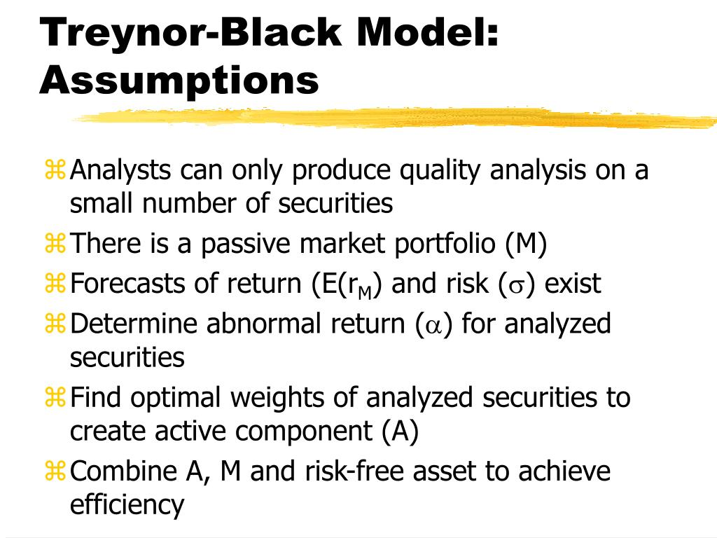 Treynor-Black Model: Assumptions