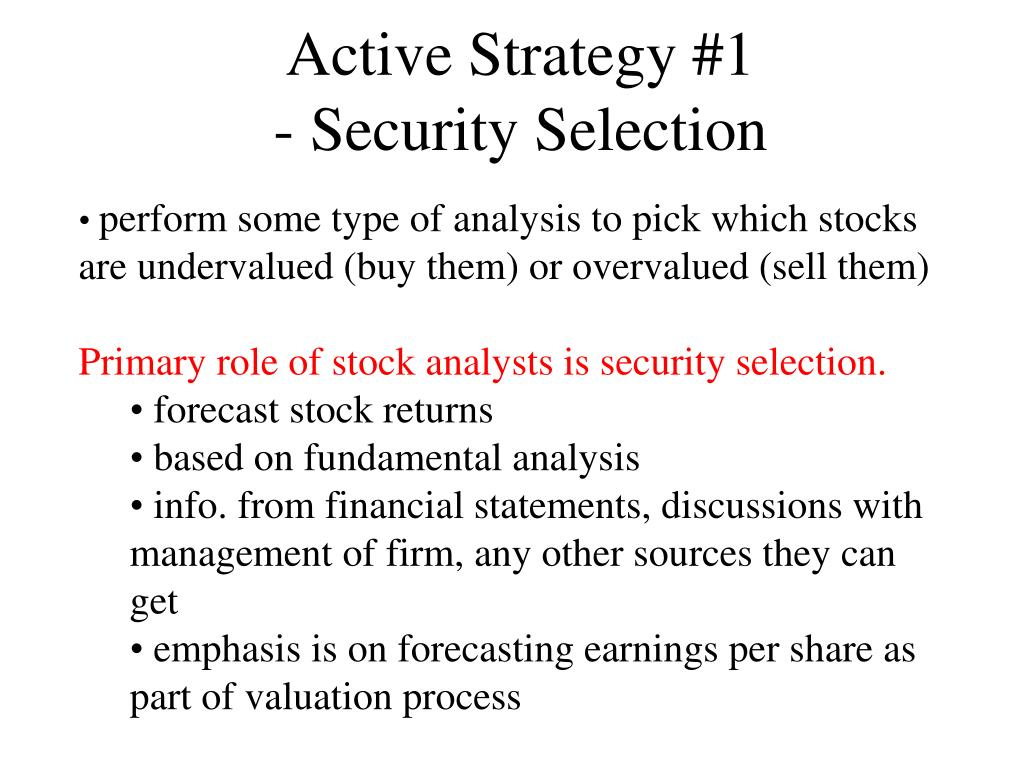 Active Strategy #1