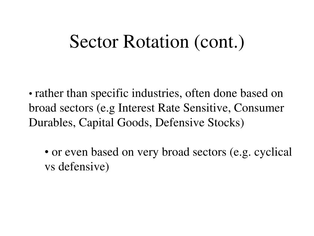 Sector Rotation (cont.)