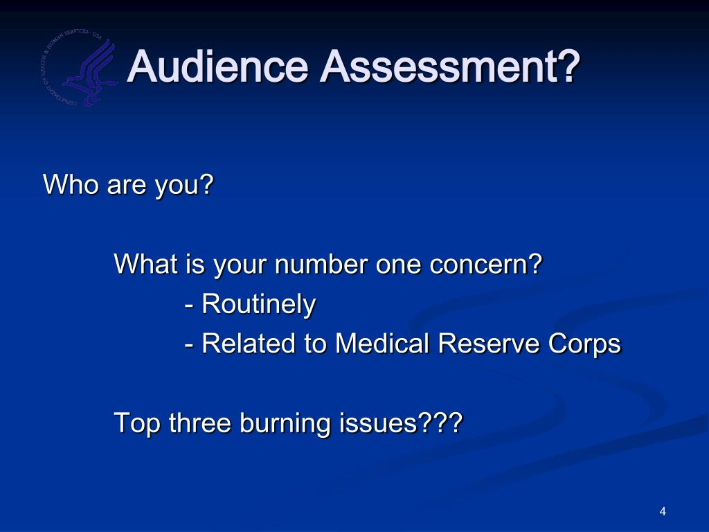 Audience Assessment?