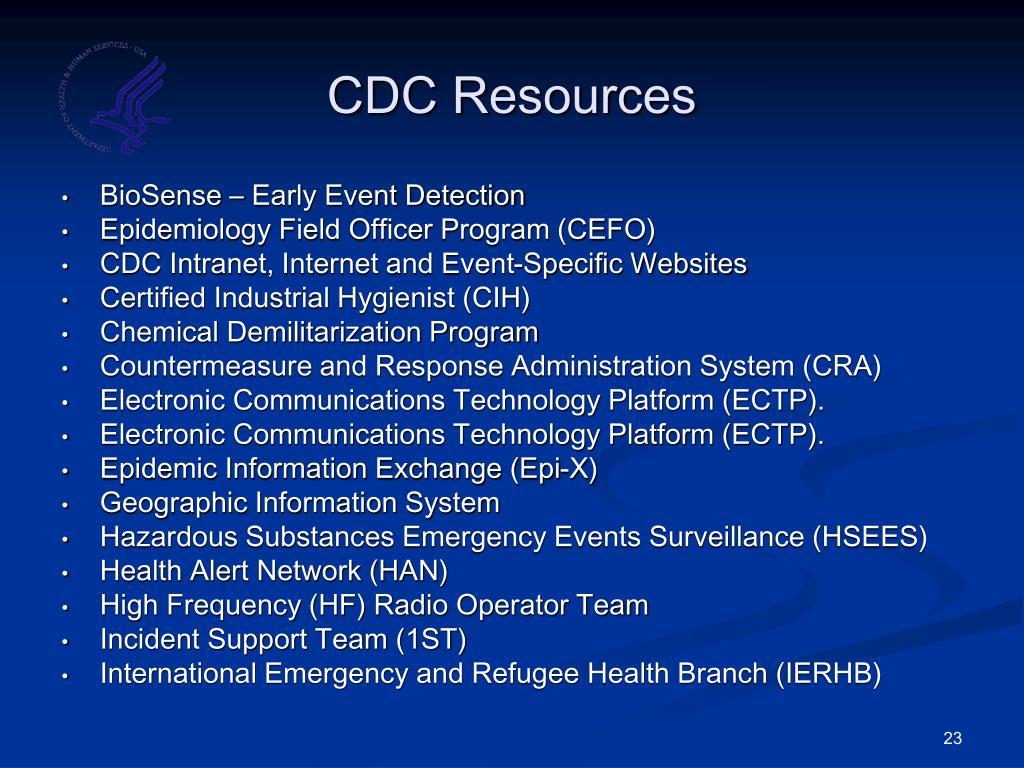 CDC Resources
