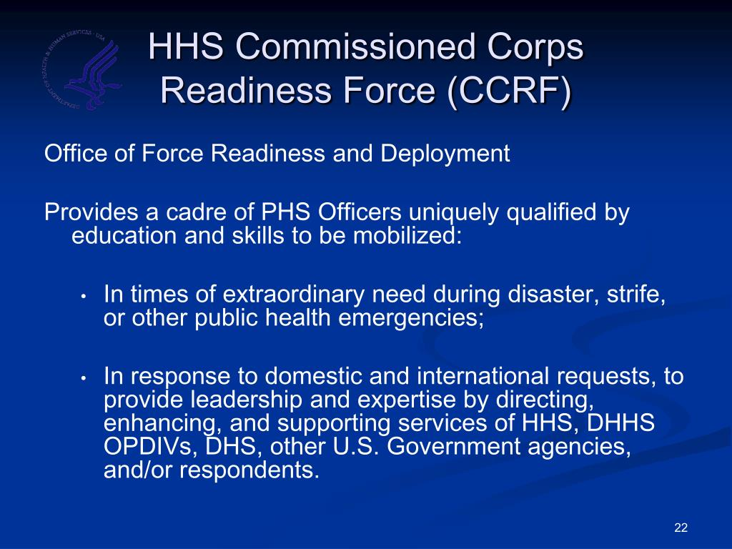 HHS Commissioned Corps