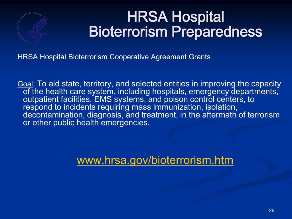 HRSA Hospital Bioterrorism Preparedness