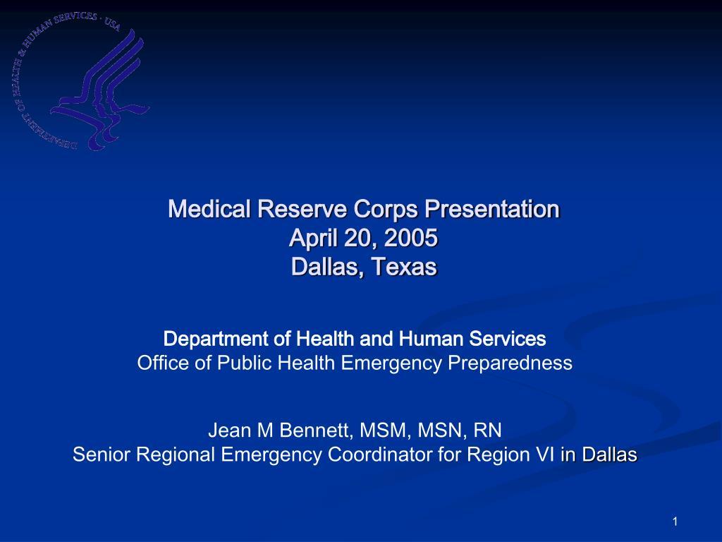 Medical Reserve Corps Presentation