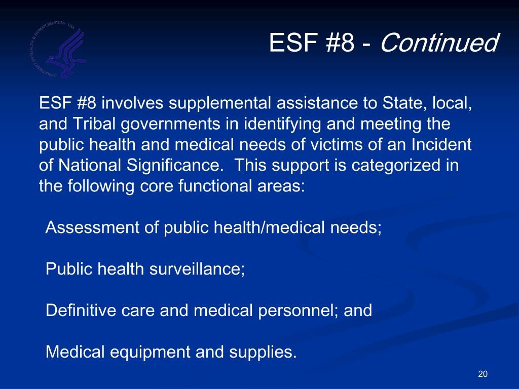 ESF #8 -