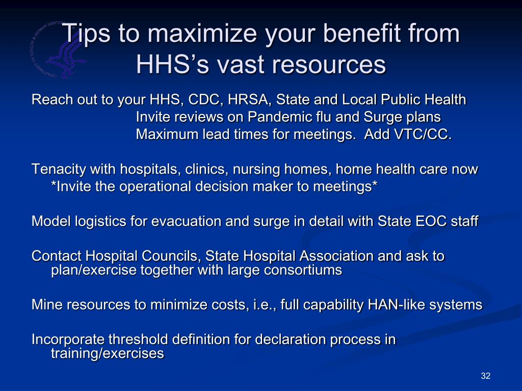 Tips to maximize your benefit from HHS's vast resources