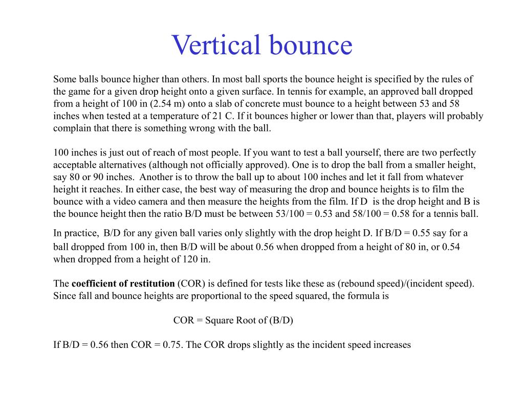 Vertical bounce